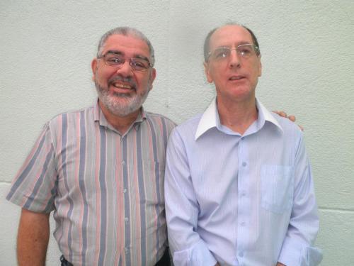 Com o irmão Gildásio. Um homens de boas e sinceras amizades.